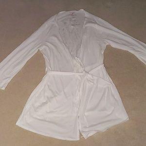 Victoria's secret white robe